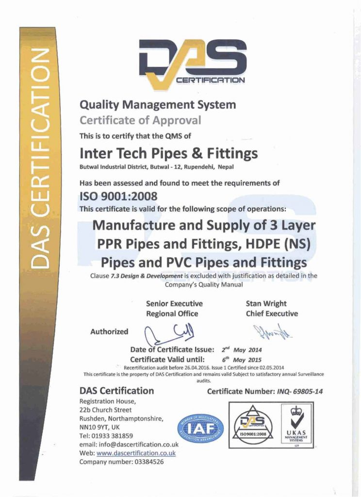 INTER-TECH PIPES & FITTINGS – Inter-tech group of companies